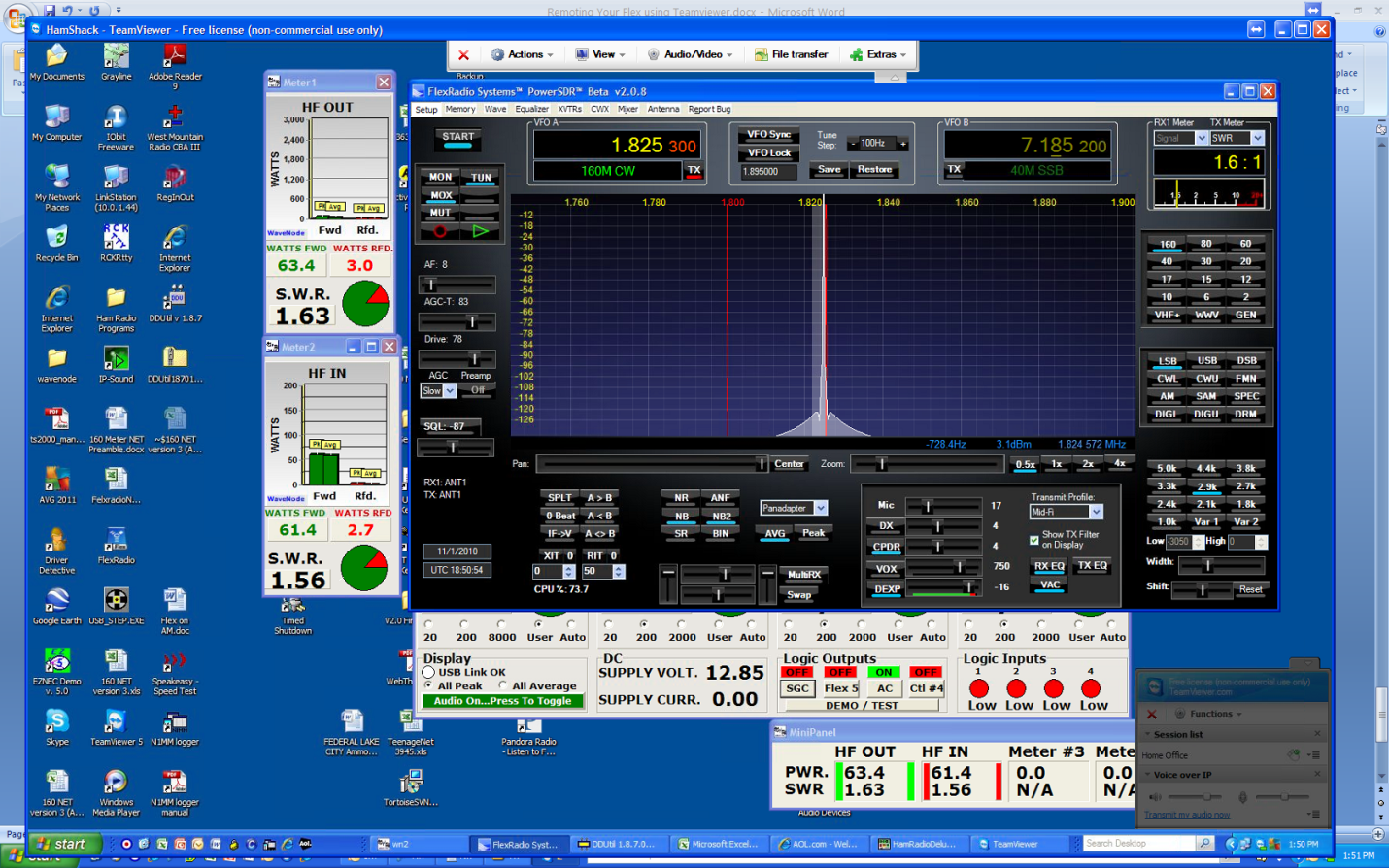Remote Operation of PowerSDR Using TeamViewer